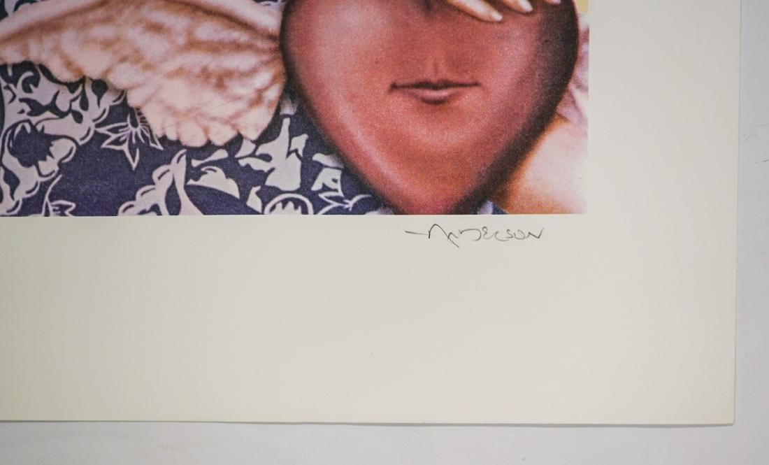 Robert Anderson Lithograph Queen of Hearts P.P. - 3