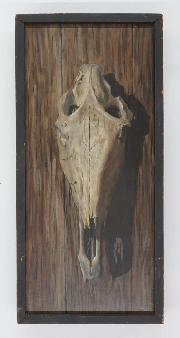 Robert Doney trompe l'oeil Oil on Board