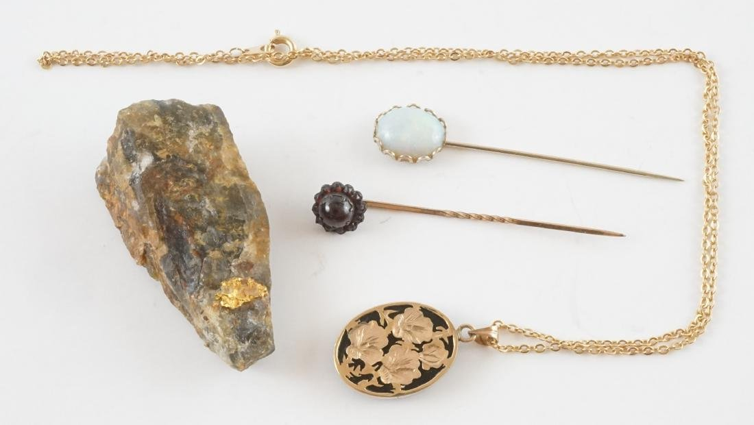 Estate Jewelry, Antique Stickpins and Gold Nugget