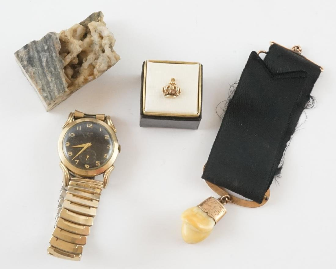 Men's Estate Jewelry with Watch and Fraternal - 3