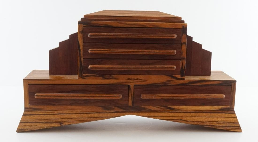 An Exotic Wood Artisan Jewelry Box
