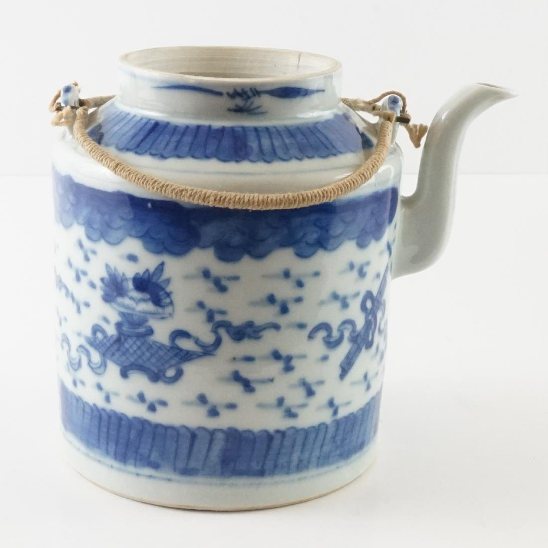 Old Chinese Teapot in Basket - 2