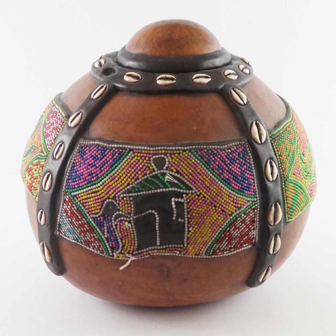 African Beaded Gourd - 3