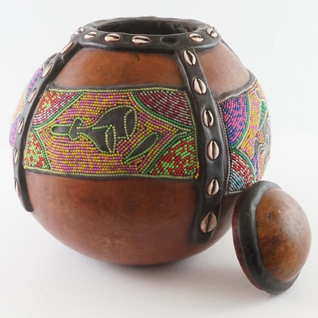 African Beaded Gourd - 7