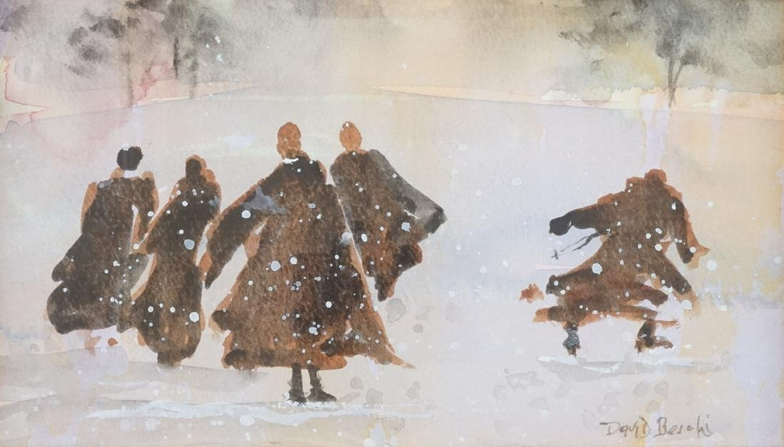 David Beschi Framed Watercolor