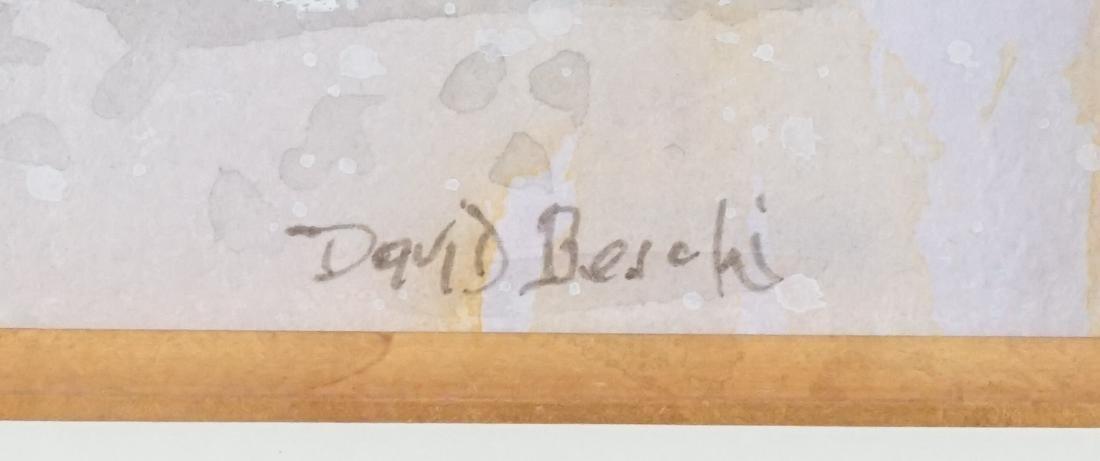 David Beschi Framed Watercolor - 2
