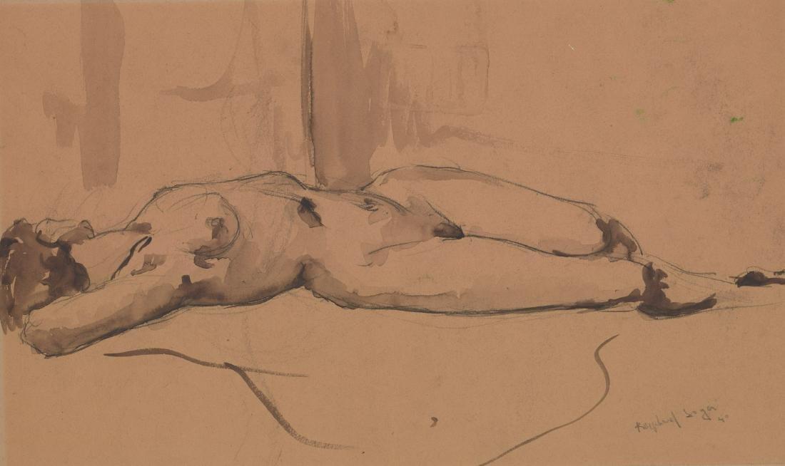 Raphael Soyer Original Drawing
