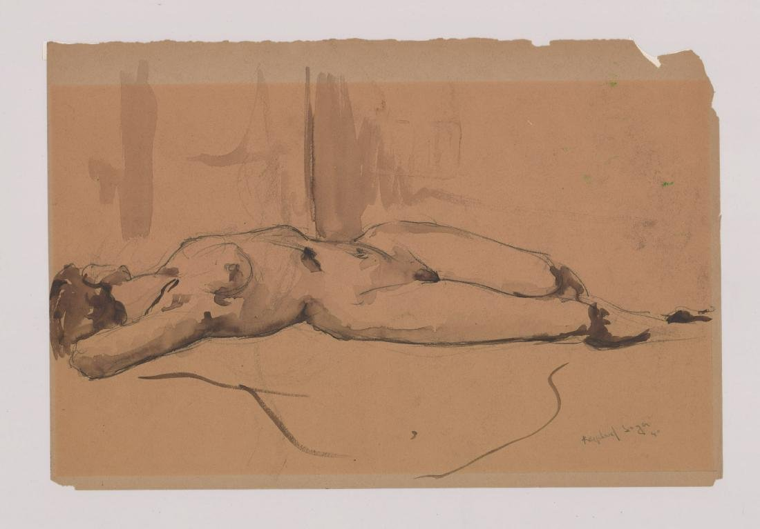 Raphael Soyer Original Drawing - 2