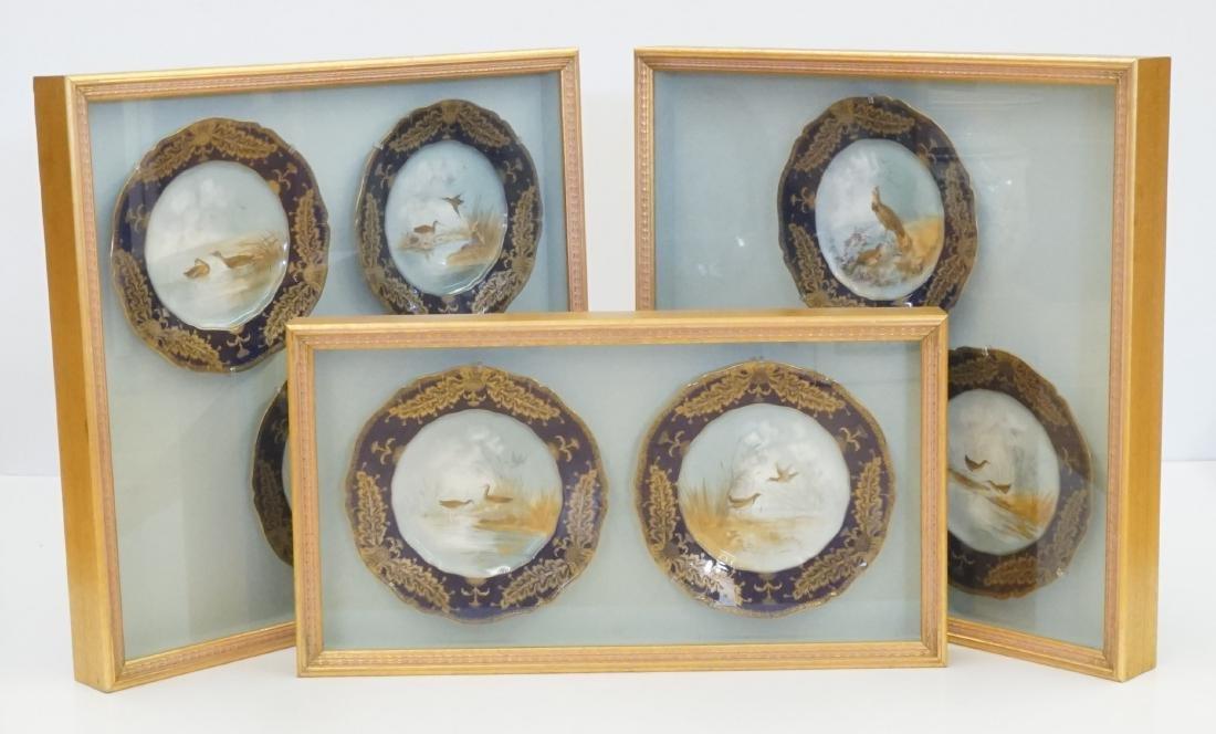 Haviland Limoges Cobalt Plates Signed J. Wright