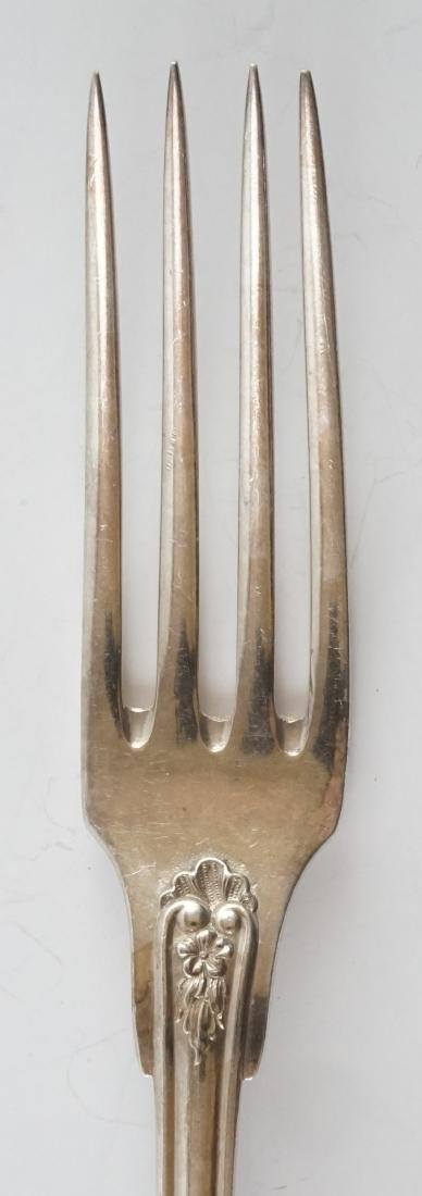 French Silver Plate Serving Fork and Spoon - 3