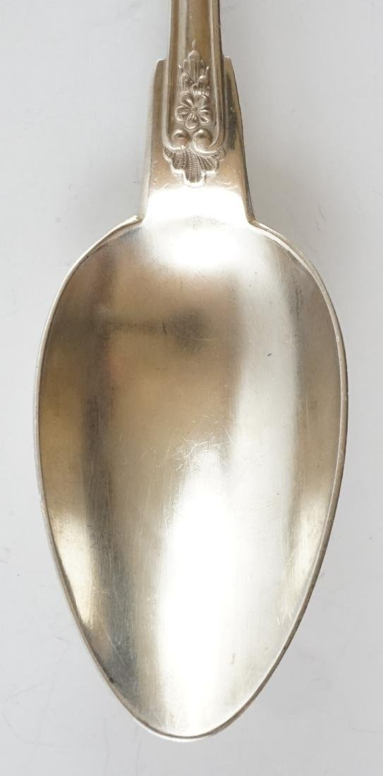 French Silver Plate Serving Fork and Spoon - 8