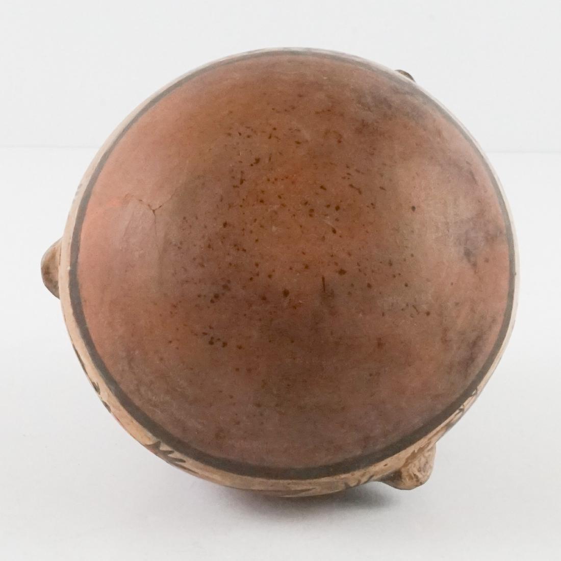 Nazca Pottery Stirrup Jar w/Raised Design - 5