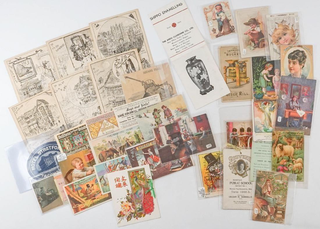 Group Trade Cards, Ephemera & More
