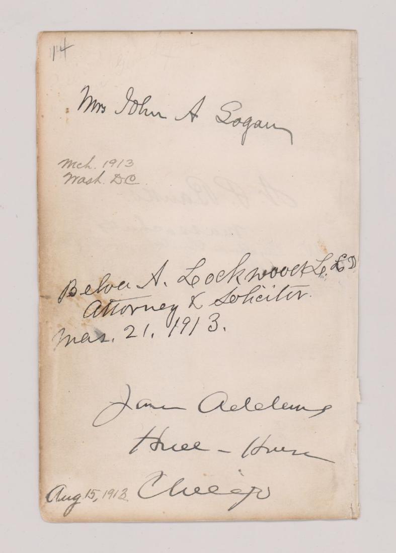 Multi-Signed Autograph Album Page Civil War - 2