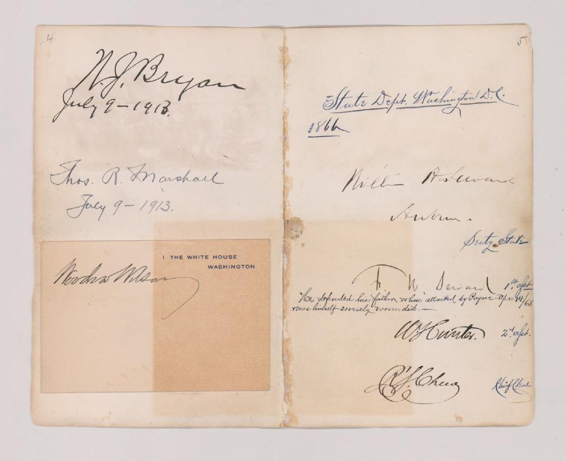 Multi-Signed Autograph Album Page Civil War - 3