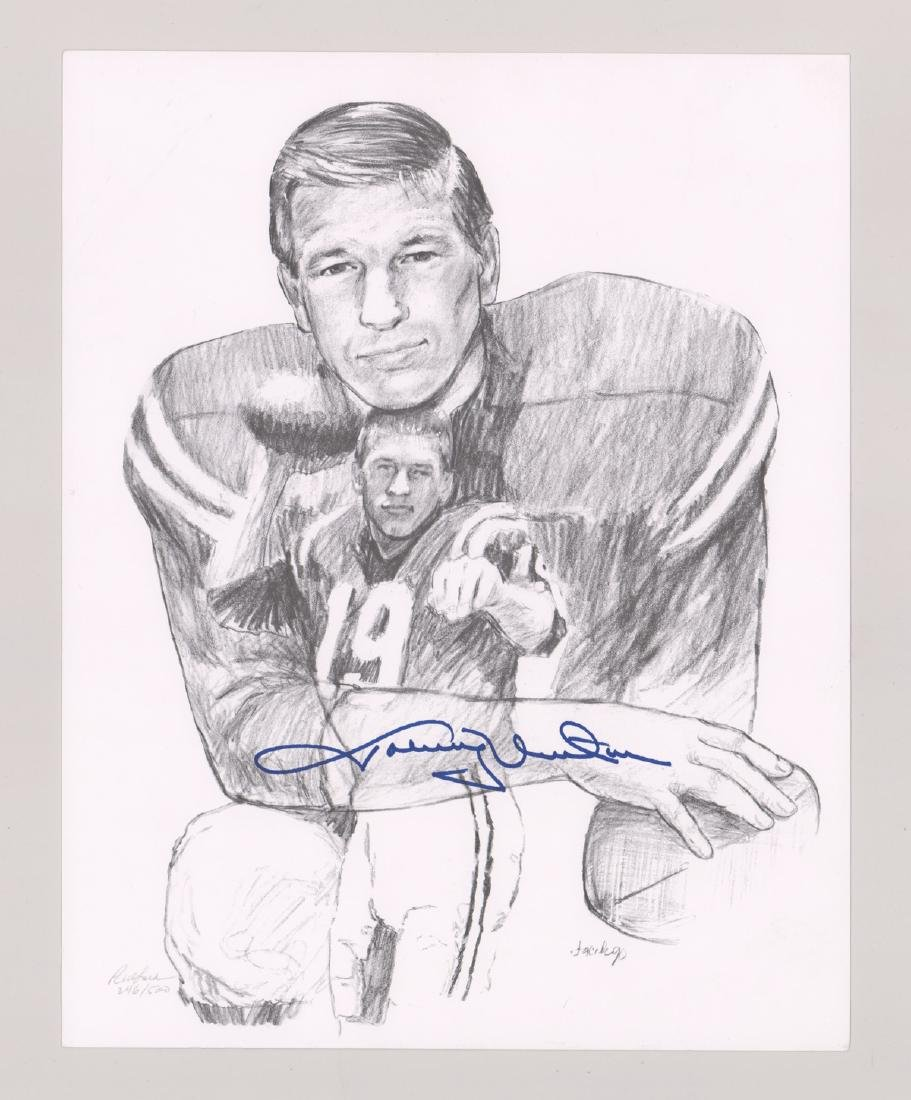 Johnny Unitas Signed Lithograph PSA/DNA - 2