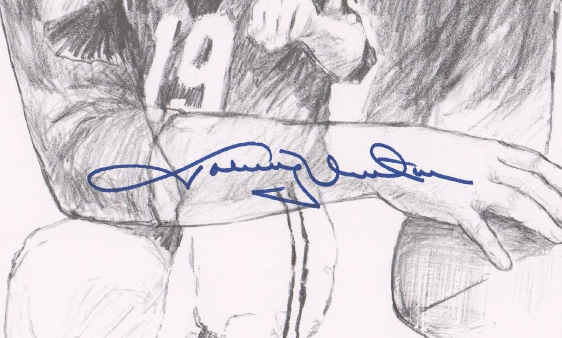 Johnny Unitas Signed Lithograph PSA/DNA - 3