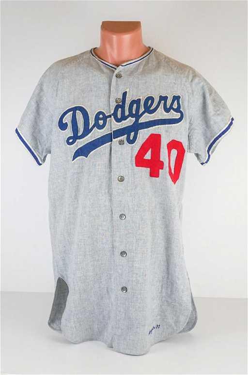 Bill Singer 1971 Los Angeles Dodgers Away Jersey 7bc38d28669