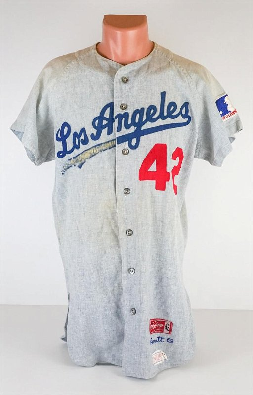buy popular 72115 41cf3 Leon Everitt 1969 Los Angeles Dodgers Away Jersey