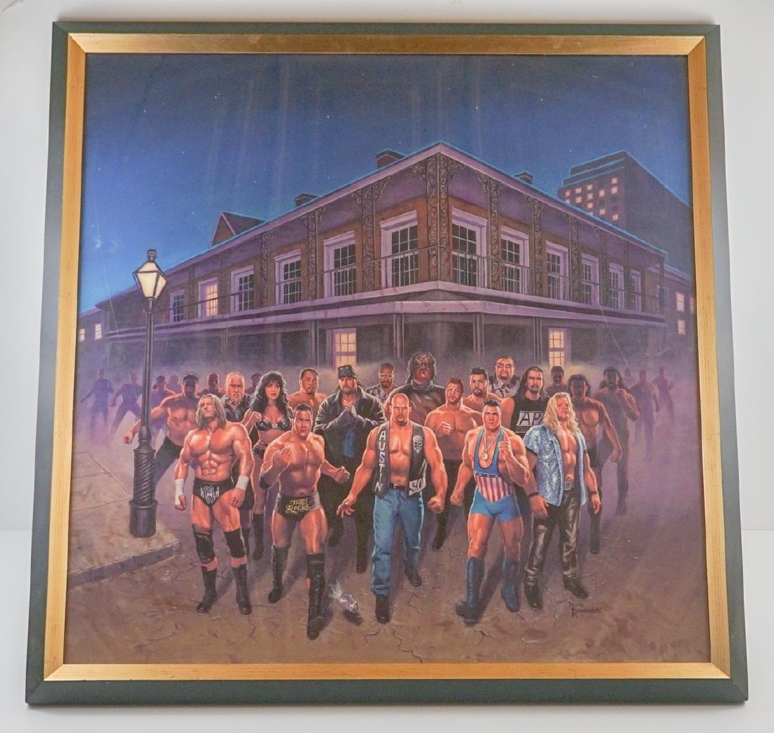 Mark Romanoski Original Artwork WWF Wrestlers