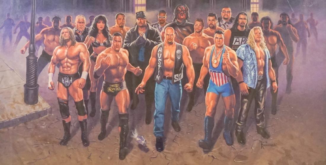 Mark Romanoski Original Artwork WWF Wrestlers - 2