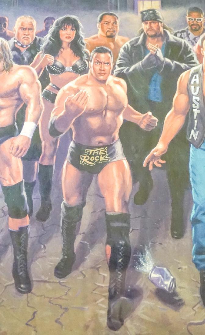 Mark Romanoski Original Artwork WWF Wrestlers - 5