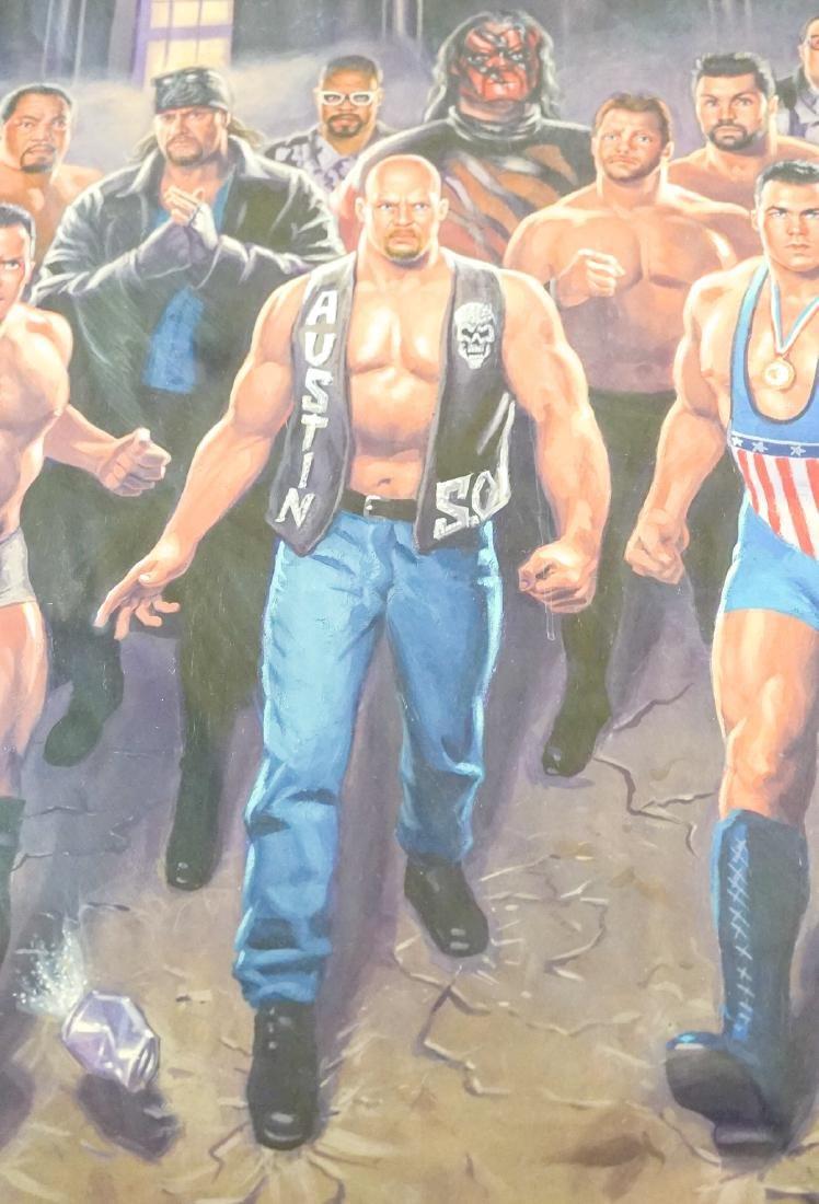 Mark Romanoski Original Artwork WWF Wrestlers - 6