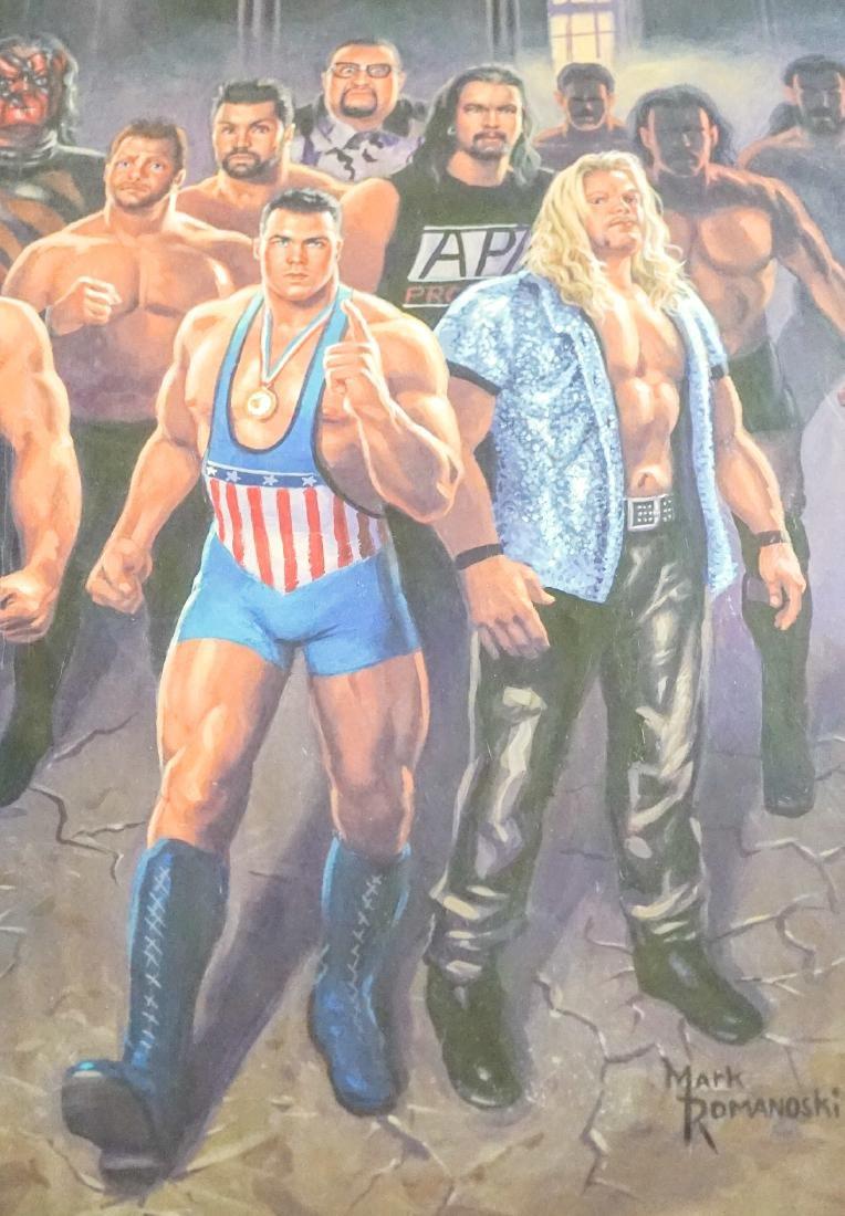 Mark Romanoski Original Artwork WWF Wrestlers - 7