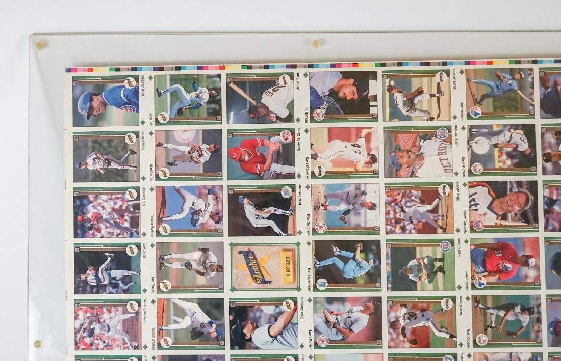 1989 Upper Deck Full Uncut Sheet - 4