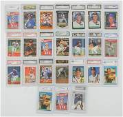 A Group of 24 Graded Baseball Cards