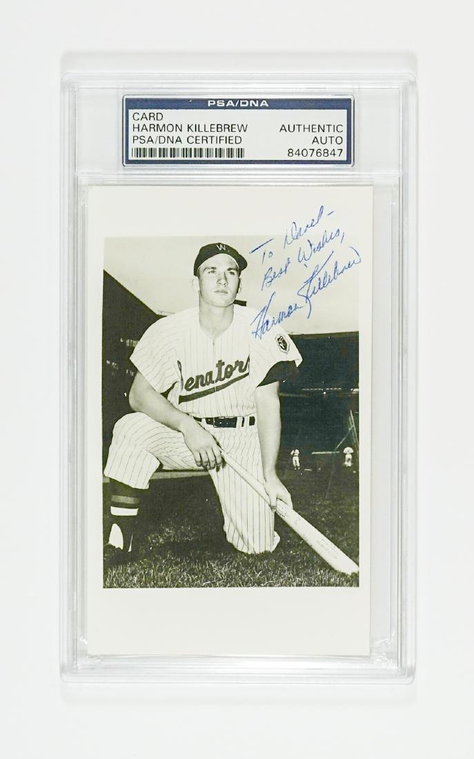 Harmon Killebrew Vintage Signed Photograph