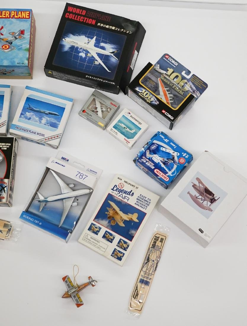 A Group of Airplane Models and Model Kits - 2