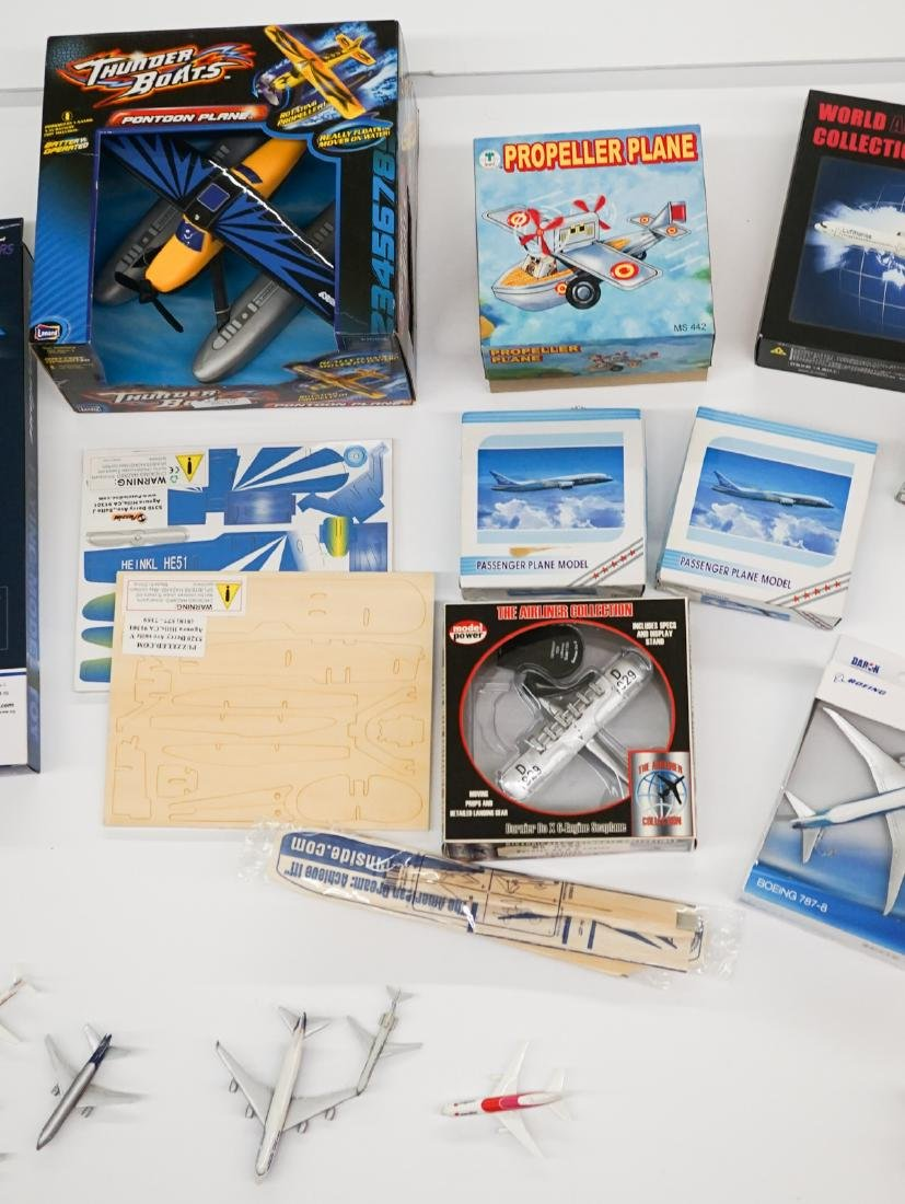 A Group of Airplane Models and Model Kits - 3