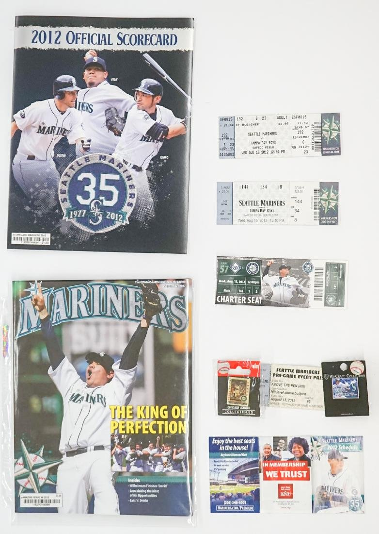 Felix Hernandez Perfect Game 8/15/2012