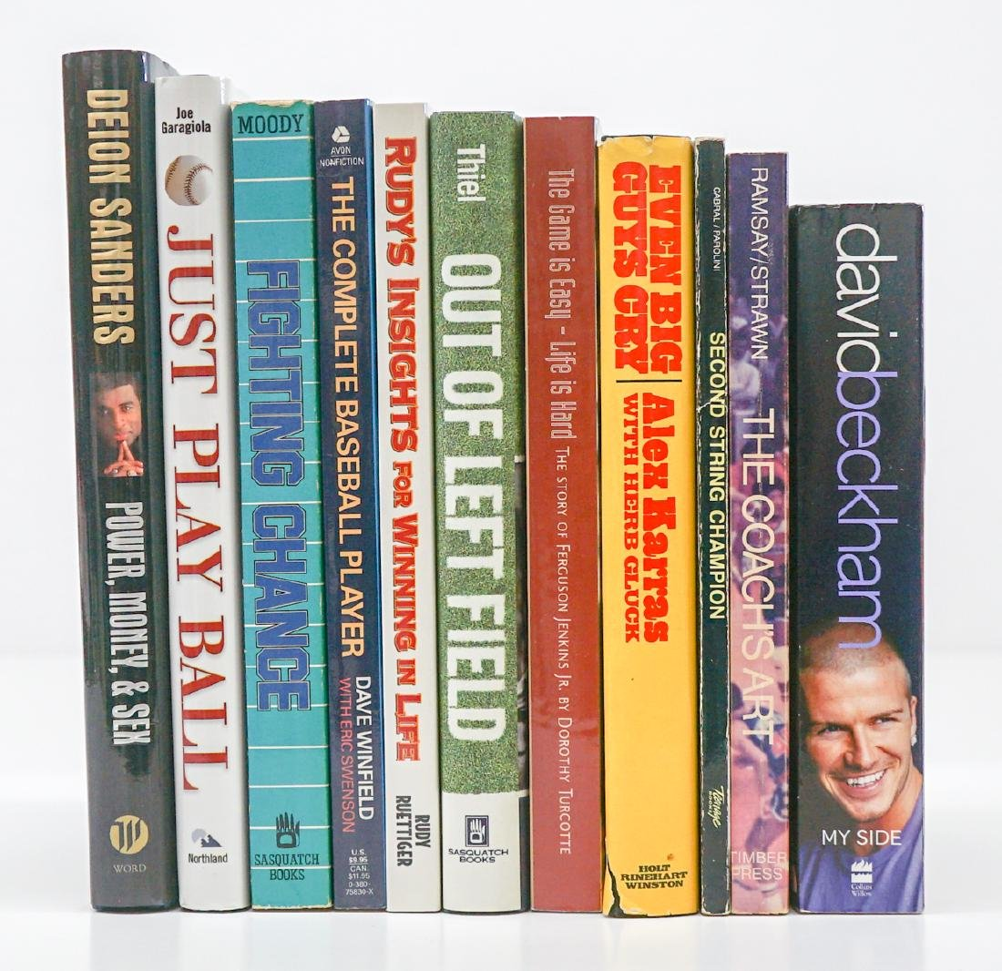 A Group of Signed Sports Books