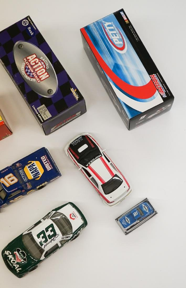 Ten Auto Racing Scale Model Cars, Some Signed - 2