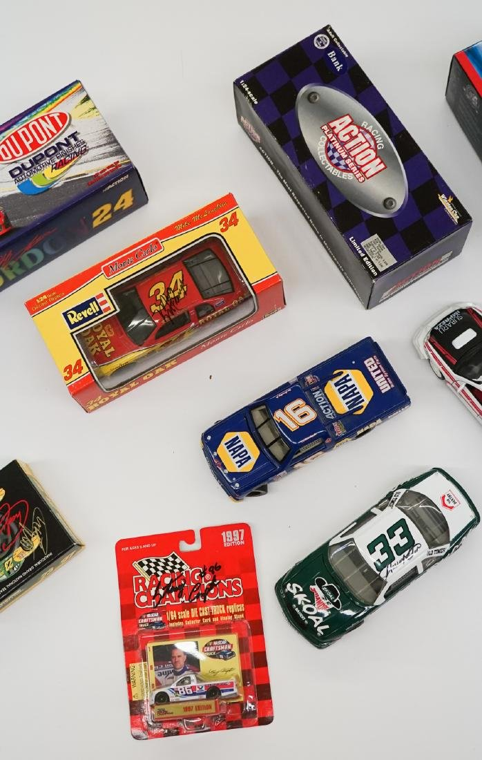 Ten Auto Racing Scale Model Cars, Some Signed - 3