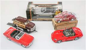 Group of Scale Model Cars