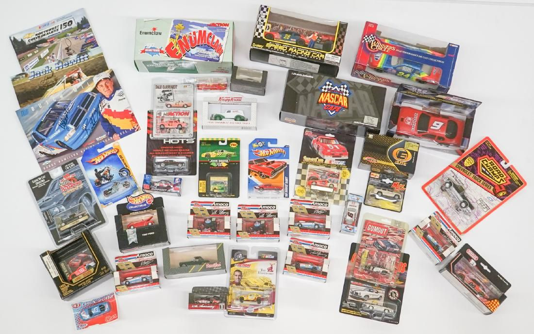 Group of Scale Model Race Cars MIB