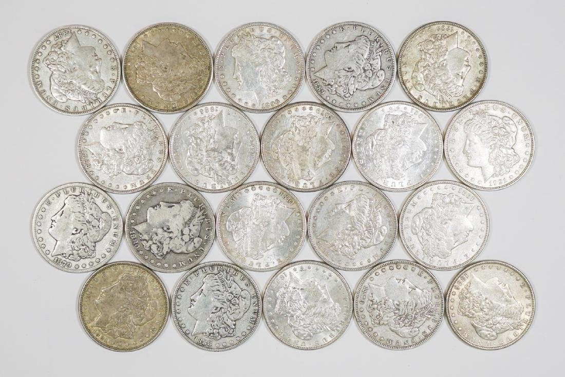 Group of [20] Morgan U.S Silver Dollars 1878-1921