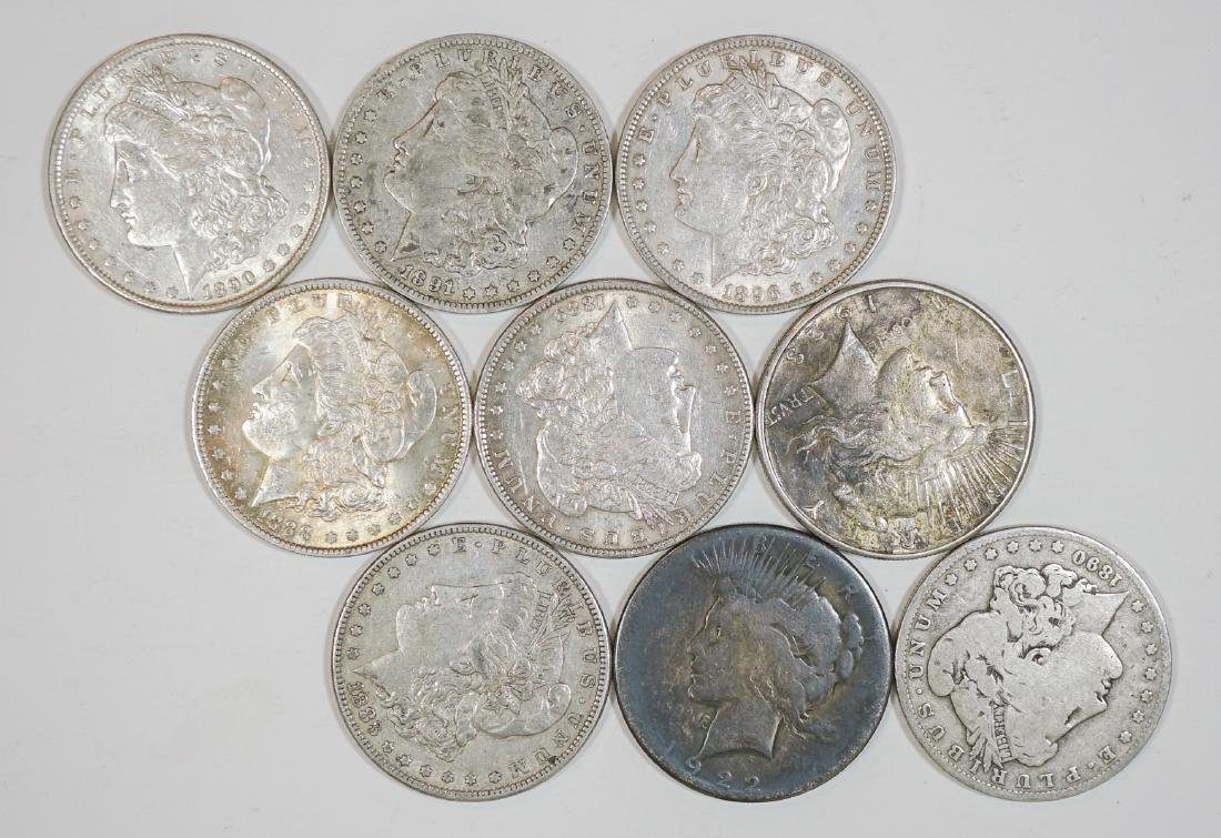 Group of [9] Old U.S. Silver Dollars 1878-1935