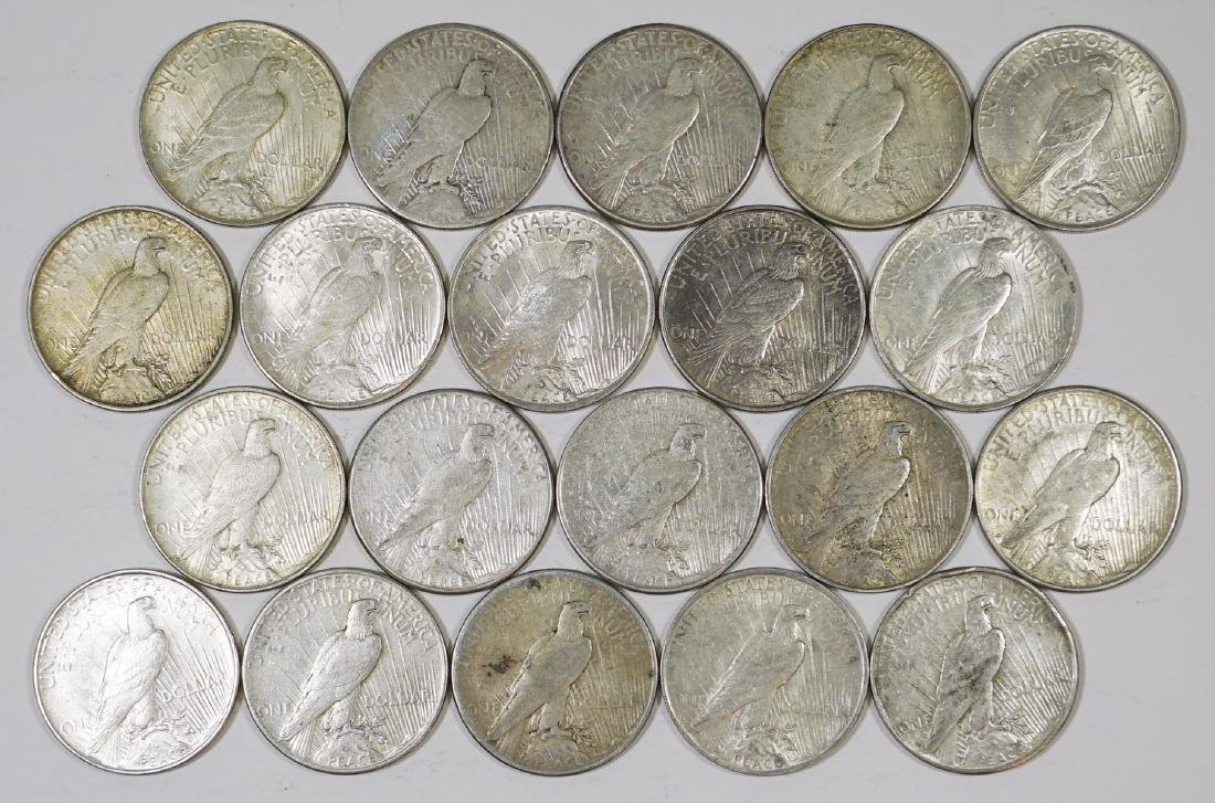 Group of [20] Peace U.S. Silver Dollars 1921-1935 - 2