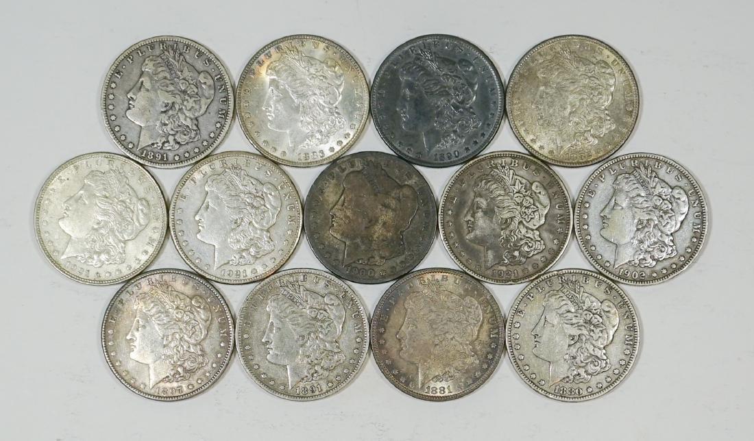 Group of [13] Morgan U.S. Silver Dollars 1878-1935