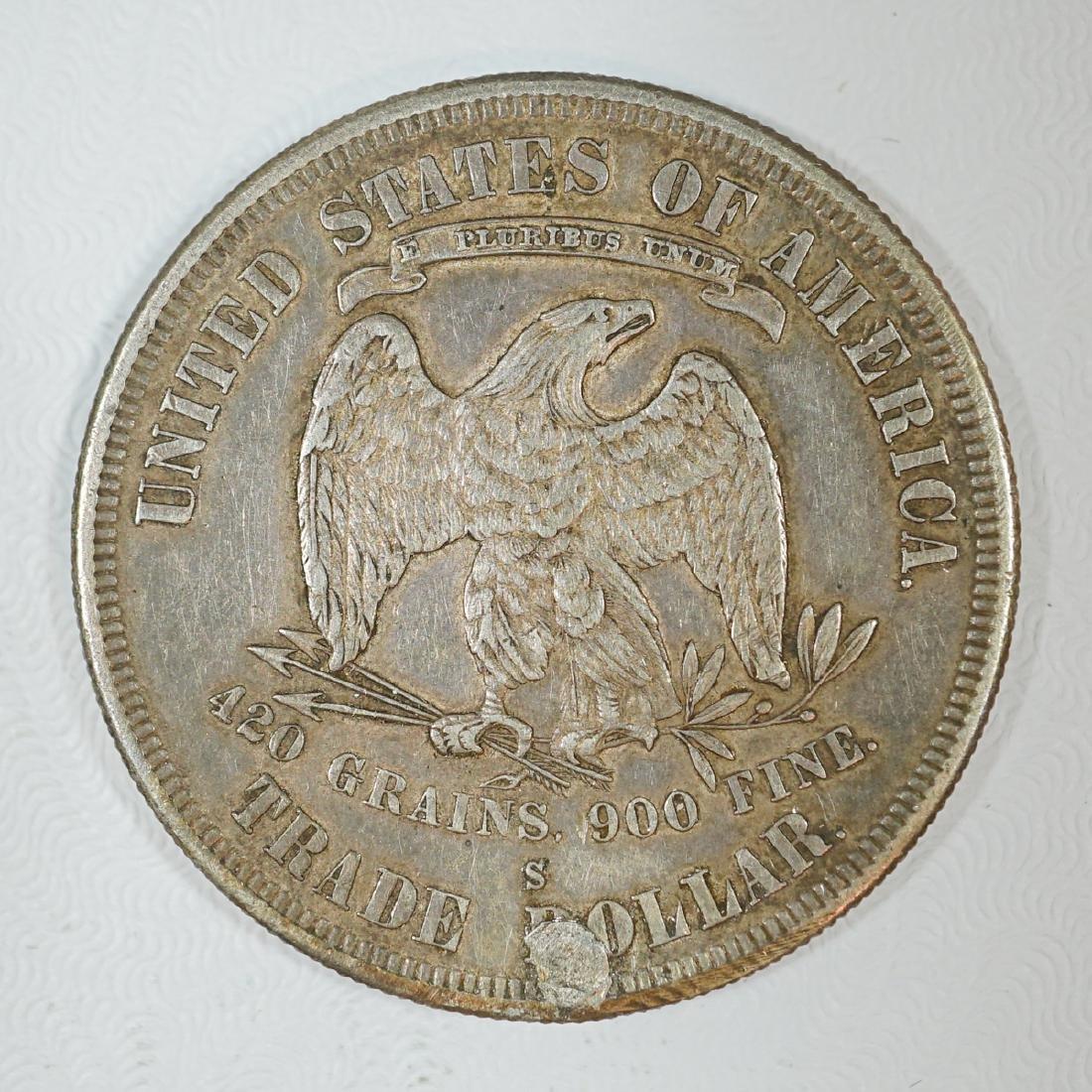 1877-S U.S. Silver Trade Dollar - 2