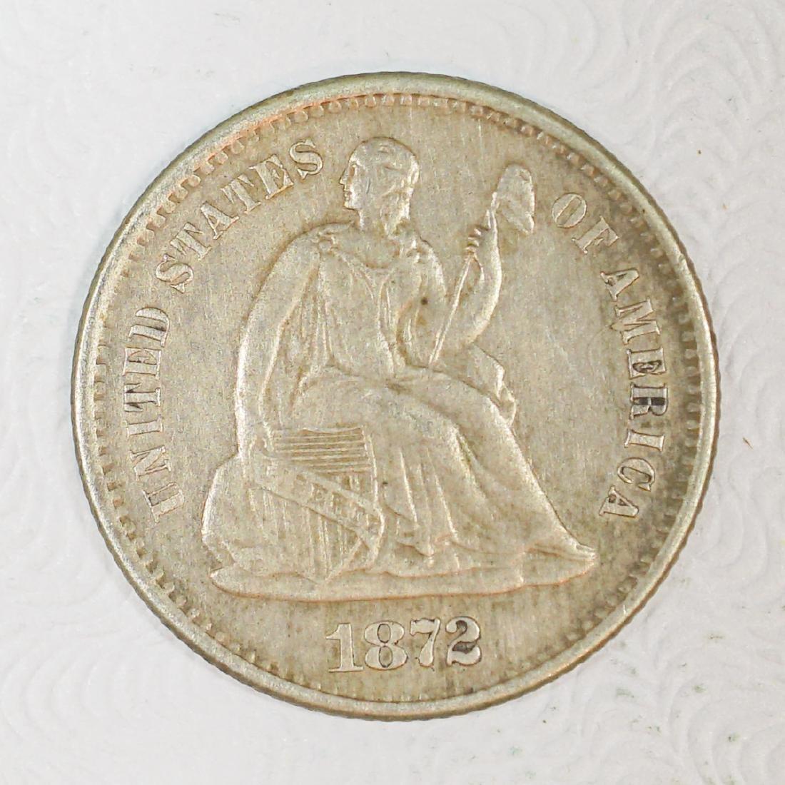 1872-S U.S. Silver Half-Dime