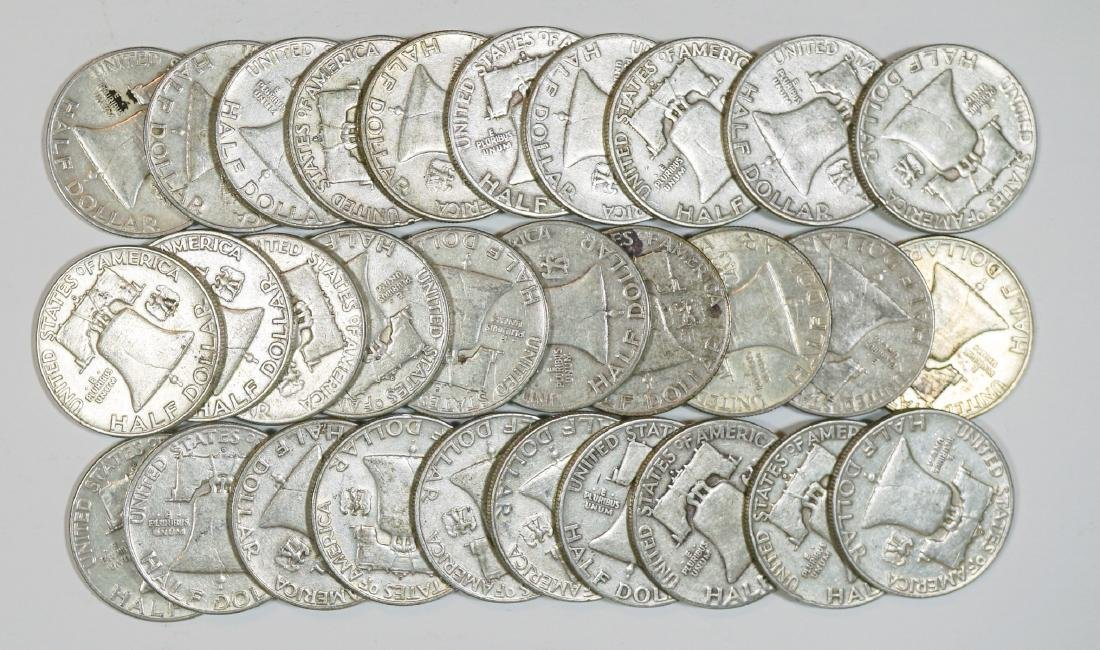 Group of [30] Franklin Silver Half Dollars - 2
