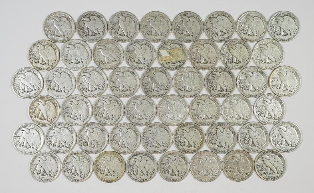 Group of [50] Walking Liberty Half Dollars - 2