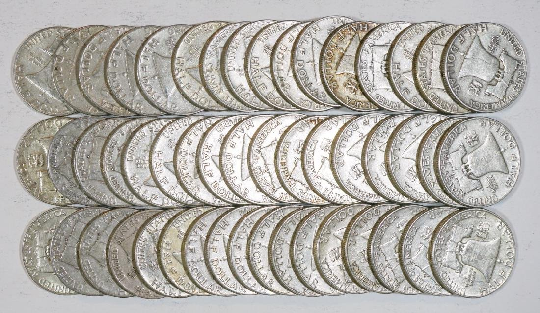 Group of [50] Franklin Silver Half Dollars - 2
