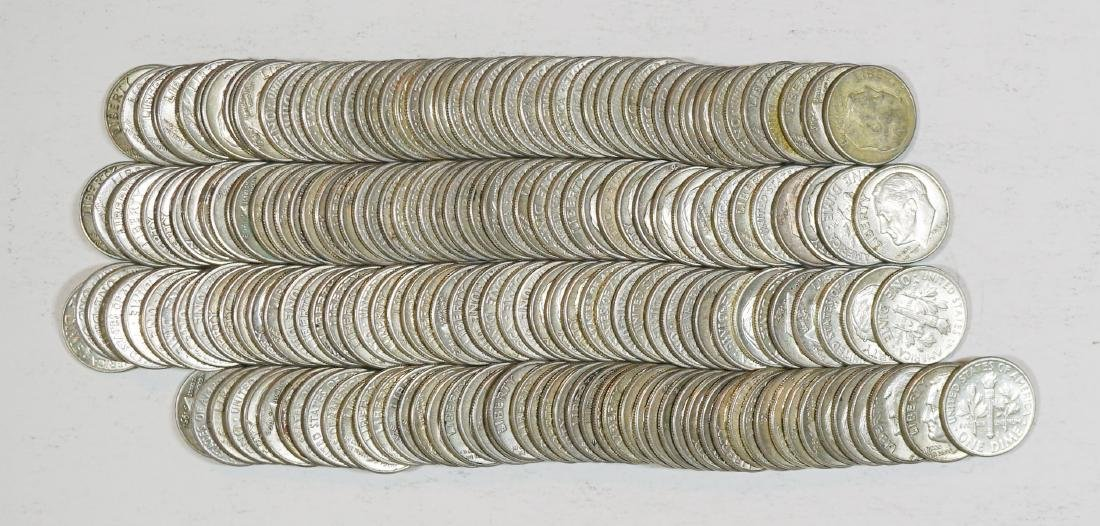 Group of [200] Roosevelt Silver Dimes