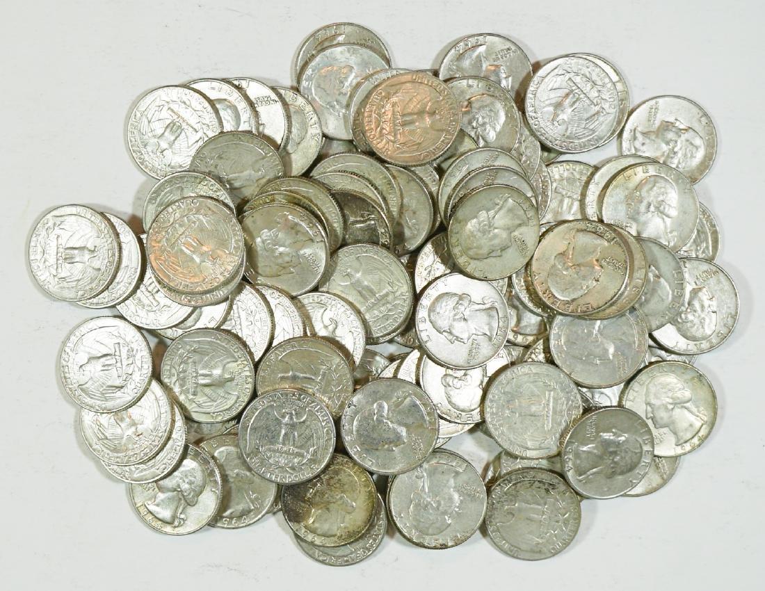 Group of [100] Silver Washington U.S. Quarters